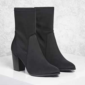 Forever 21 Black Sock Booties
